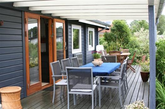 Terrasse, overdækket - OBS er ændret lidt siden billede