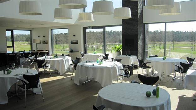 Restauranten i Klubhuset.